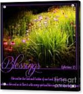 Blessings Acrylic Print