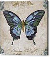 Bleu Papillon-a Acrylic Print