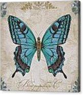 Bleu Papillon-c Acrylic Print