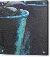 Bleu Pots Acrylic Print