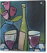 Blind Date With Wine Acrylic Print