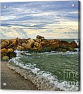 Blind Pass Storm Rocks - Captiva  Acrylic Print