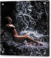Bliss. Anna At Eureka Waterfalls. Mauritius Acrylic Print