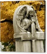 Blissful Angel In Autumn Acrylic Print
