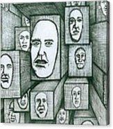 Block Head Acrylic Print