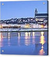 Blois Loire Valley Panorama Twilight  Centre France Acrylic Print by Colin and Linda McKie