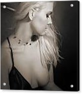 Blond Girl With Naked Breast 1287.01 Acrylic Print