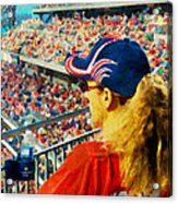 Blonde At The Ballgame Acrylic Print