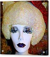 Blonde Fro Acrylic Print