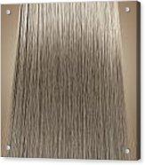 Blonde Hair Perfect Straight Acrylic Print