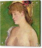 Blonde With Bare Breasts Acrylic Print