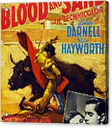 Blood And Sand, Us Poster, From Left Acrylic Print