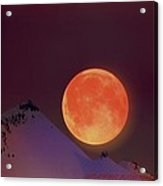 Blood  Moon  Acrylic Print by Jeanne  Bencich-Nations