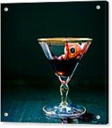 Bloody Eyeball In Martini Glass Acrylic Print by Edward Fielding