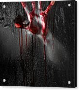 Bloody Hand Acrylic Print by Jt PhotoDesign