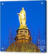 Blooming Golden Dome Acrylic Print