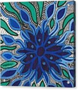 Blooming In Blue Acrylic Print