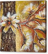 Blooming Tree Acrylic Print by Elena  Constantinescu