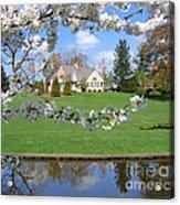 Blossom-framed House Acrylic Print