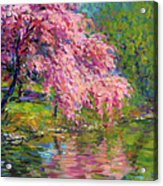Blossoming Trees Landscape  Acrylic Print
