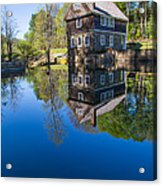 Blow Me Down Mill Cornish New Hampshire Acrylic Print by Edward Fielding