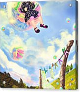Blowing Bubbles Acrylic Print by Fairy Tales Imagery Inc