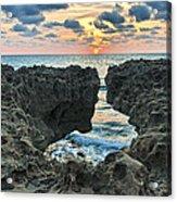 Blowing Rocks Sunrise Acrylic Print