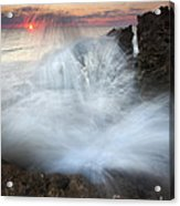 Blowing Rocks Sunrise Explosion Acrylic Print by Mike  Dawson