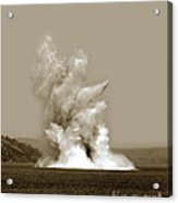 Blowing Up Arch Rock In San Francisco Bay Aug. 16, 1901 Acrylic Print