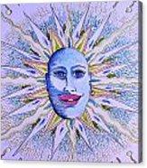 Blu Glitter Sun Acrylic Print