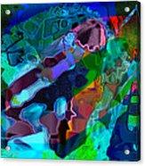 Blu Slot Acrylic Print