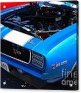 blue '69 Camaro Z28 Acrylic Print