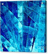 Blue Abstract Art - Paths - By Sharon Cummings Acrylic Print