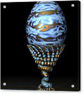 Blue And Golden Egg Acrylic Print