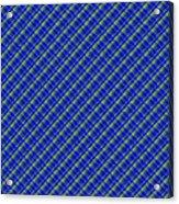 Blue And Green Diagonal Plaid Pattern Cloth Background Acrylic Print