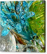 Blue And Green Glass Abstract Acrylic Print