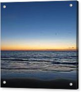 Blue And Orange Sky Acrylic Print
