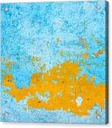 Blue And Orange Wall Texture Acrylic Print