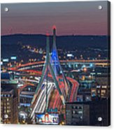 Blue And Red Zakim Acrylic Print