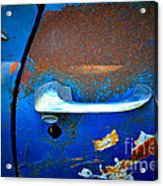Blue And Rusty Picking Acrylic Print