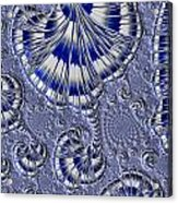 Blue And Silver 1 Acrylic Print