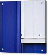 Blue And White Acrylic Print by Christi Kraft