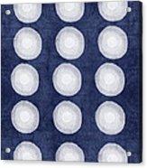 Blue And White Shibori Balls Acrylic Print