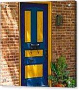 Blue And Yellow Door Acrylic Print
