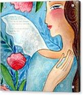 Blue  Angel Acrylic Print by Elaine Jackson
