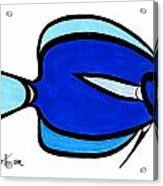 Blue Angele Acrylic Print