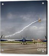 Blue Angels Fa 18 With Grumman Biplane Acrylic Print