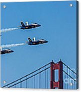 Blue Angels Over The Golden Gate Acrylic Print