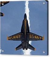 Blue Angels Overhead Break  Acrylic Print