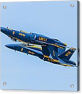 Blue Angels Upright And Inverted 2 Acrylic Print